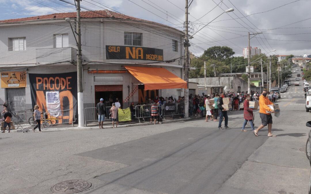 Entrega de cestas básicas e kits de limpeza no Jardim Miriam – SP| #TemGenteComFome