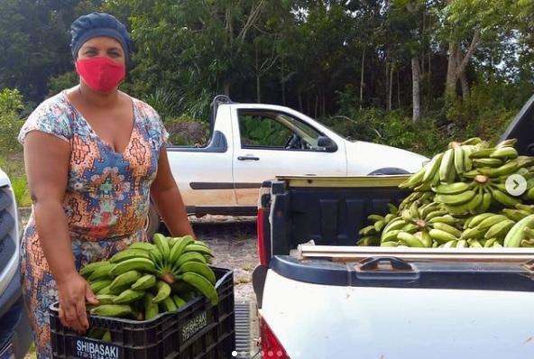 Entrega de cestas básicas e alimentos orgânicos na Bahia | #TemGenteComFome