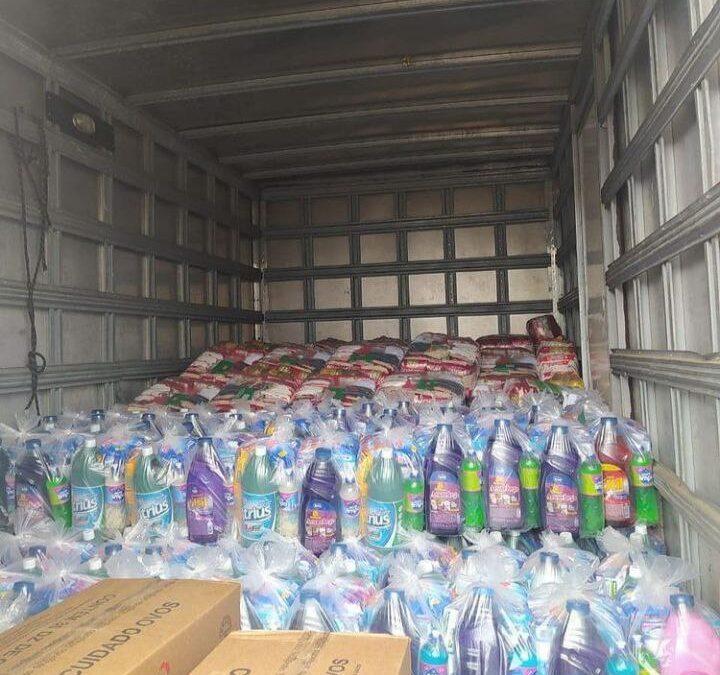 Entrega de cestas básicas e kits de limpeza no Rio Grande do Sul!