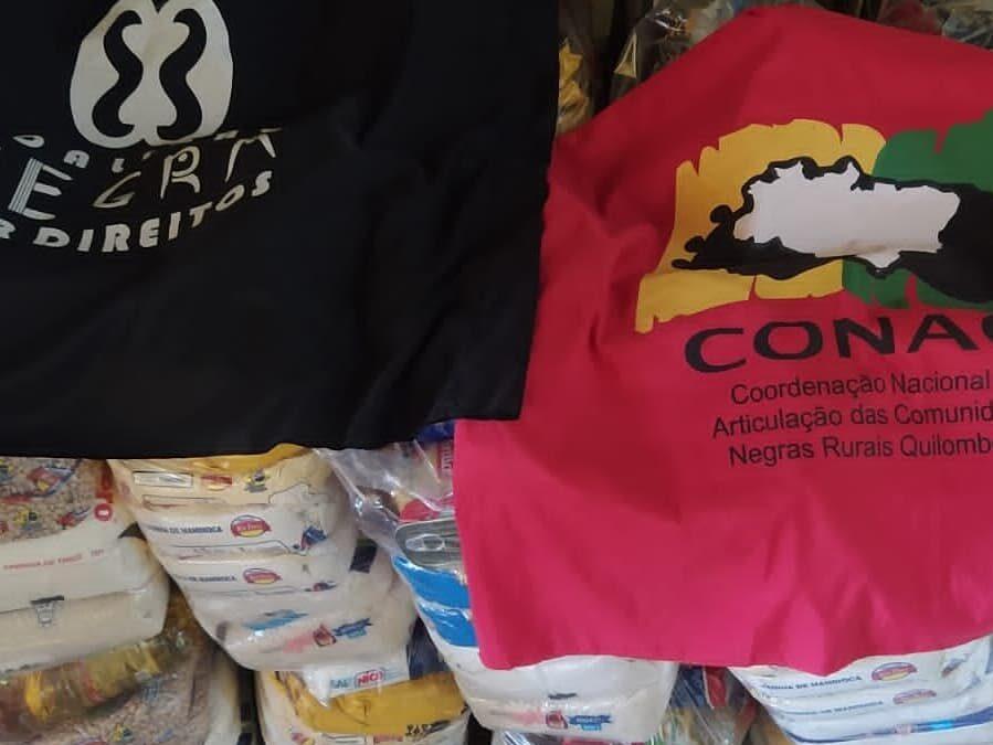 Entrega de cestas básicas e alimentos orgânicos para o Quilombo Angelim III – ES