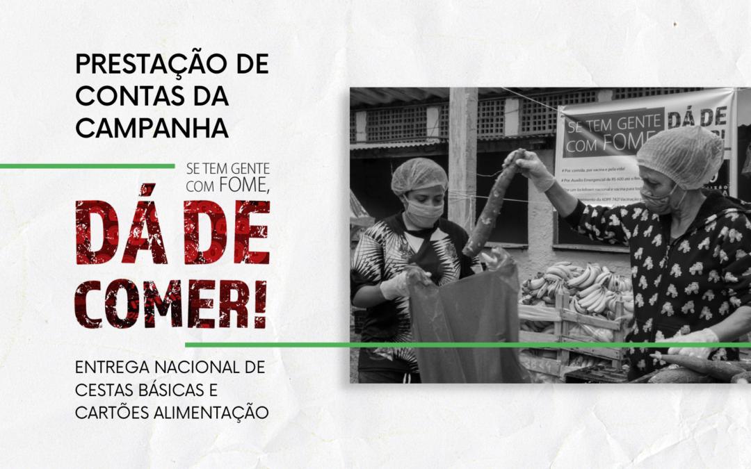 Prestação de Contas – Campanha Tem Gente Com Fome