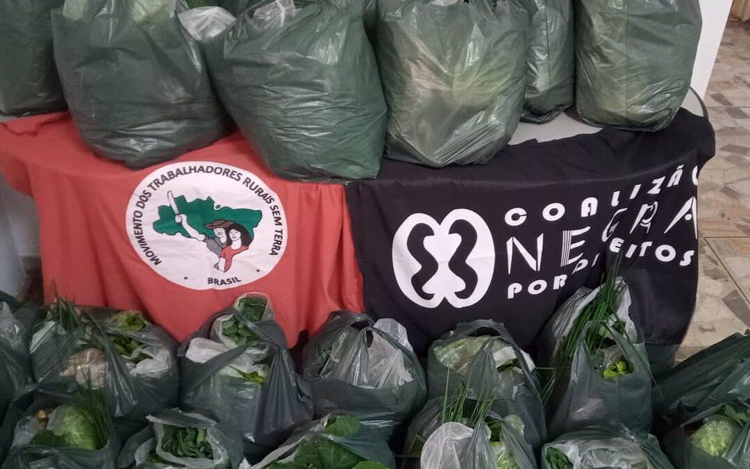 Entrega de cesta de alimentos orgânicos e produtos de higiene em Campinas – SP | #TemGenteComFome
