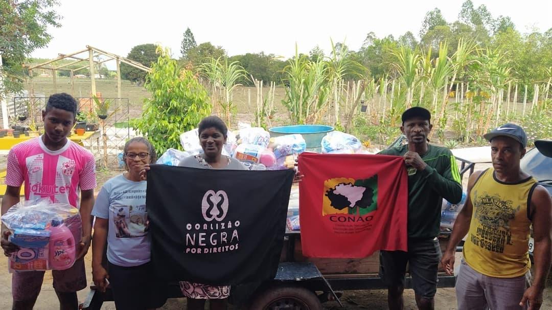 Entrega  de cestas básicas e kits de higiene e limpeza em quilombos – ES | #TemGenteComFome